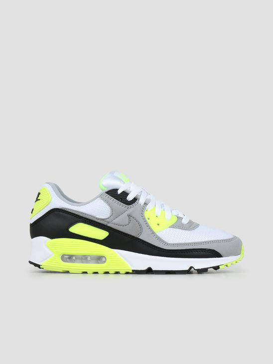 Nike Air Max 90 White Particle Grey Volt Black CD0881-103