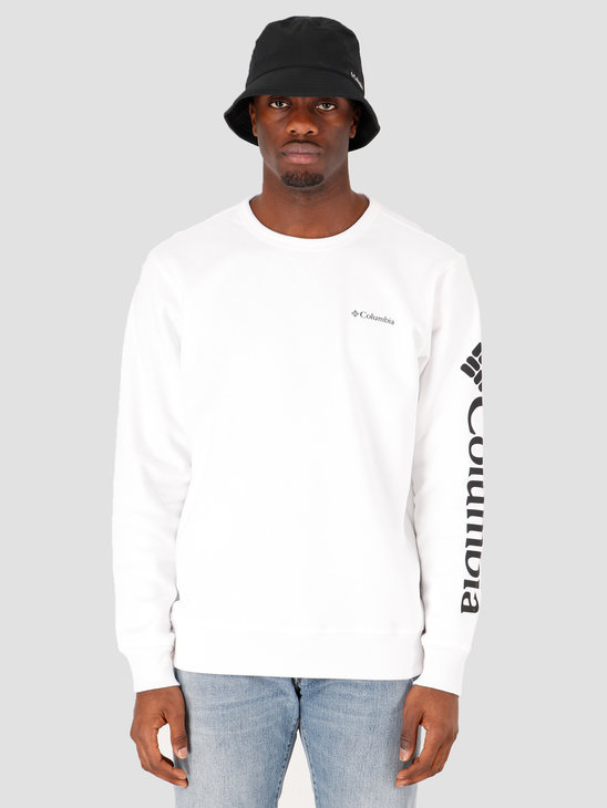Columbia Columbia Logo Fleece Crewneck White, Black 1884931100