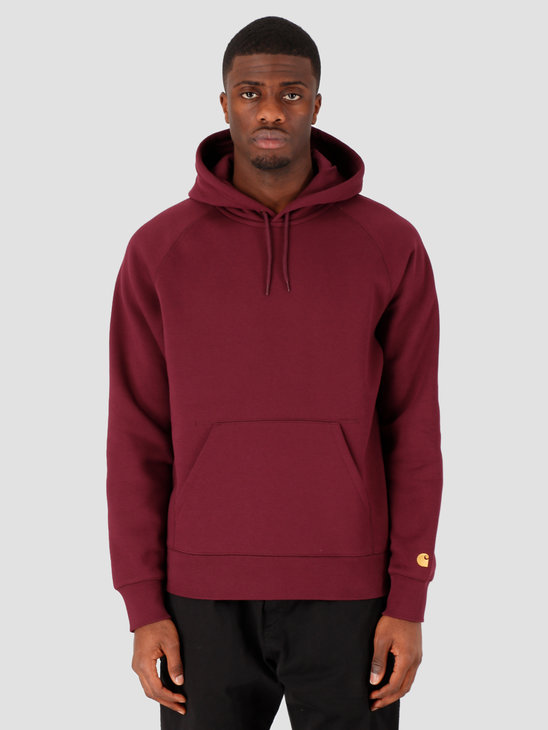 Carhartt WIP Hooded Chase Sweat Shiraz Gold I026384-08L90