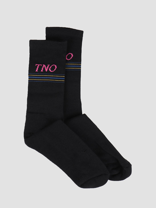 The New Originals Tno Underline Socks Black Pink