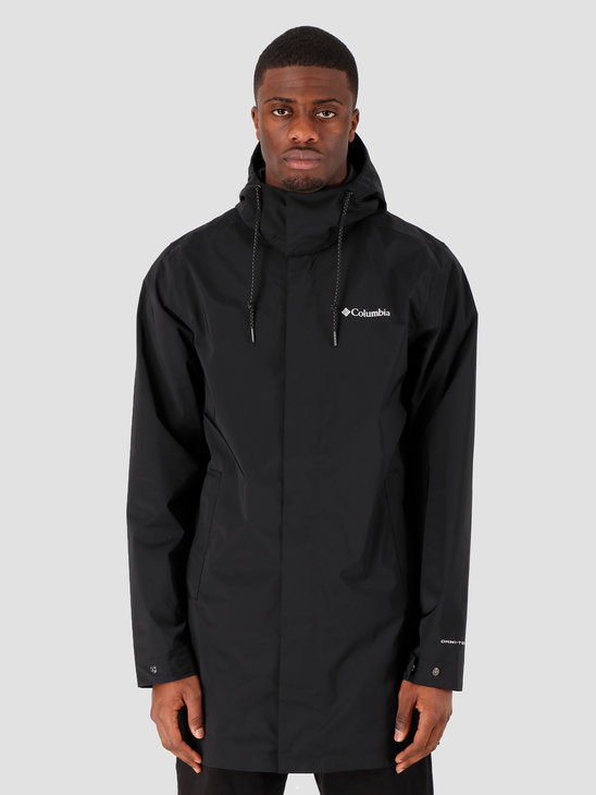 Columbia East Park Mackintosh Jacket Black 1889313010