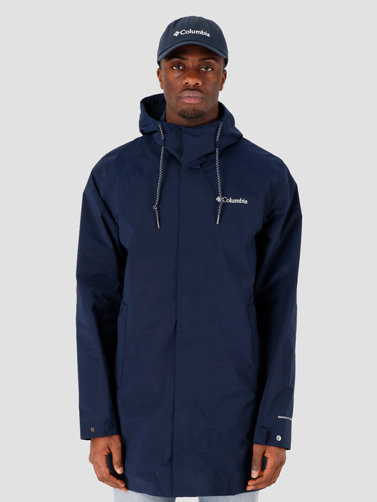 Columbia East Park Mackintosh Jacket Collegiate Navy 1889313464