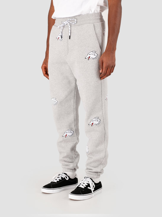 by Parra Dogface Sweat Pants Heather Grey 43570