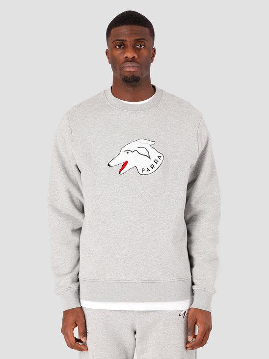 by Parra Dogface Crew Neck Sweatshirt Heather Grey 43530