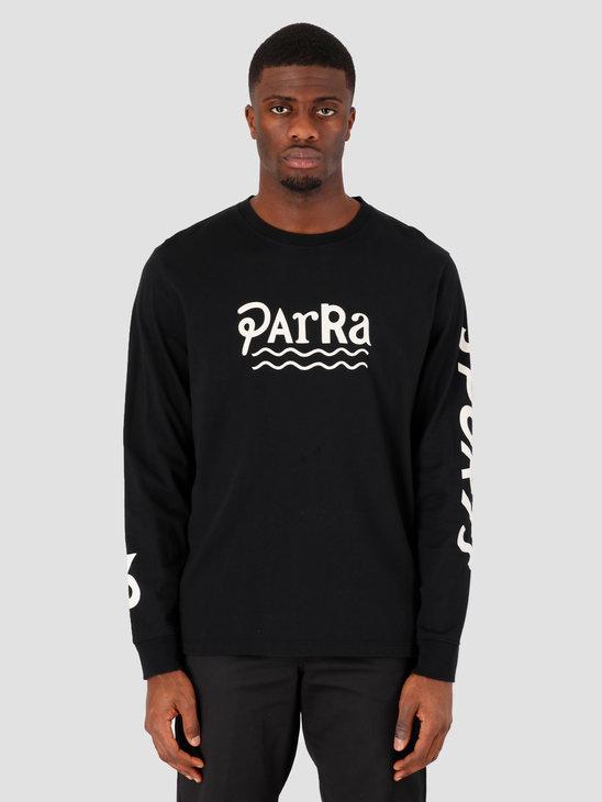 by Parra Sportsface Longsleeve T-Shirt Black 43560