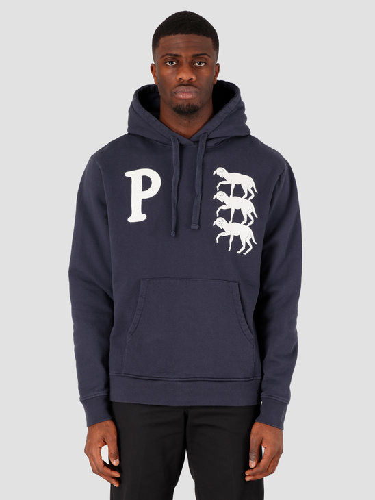 by Parra Stacked Goats Hooded Sweatshirt Navy Blazer 43550