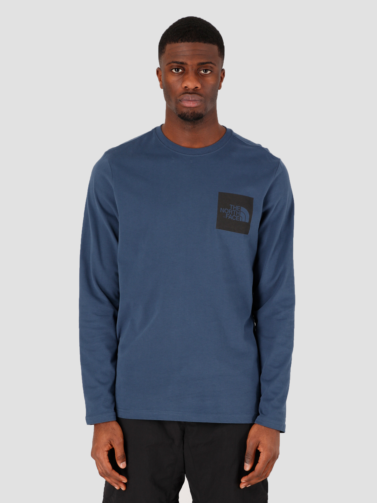 The North Face The North Face Longsleeve Fine Tee Blue Wing Teal NF0A37FTN4L1
