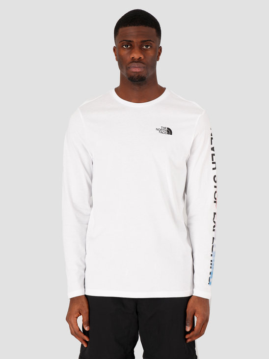 The North Face Longsleeve Graphic Flow TNF White TNF Black NF0A4927LA91