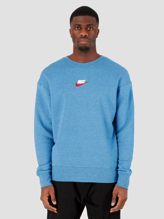 Nike Sportswear Crewneck Battle Blue Htr 928427-484