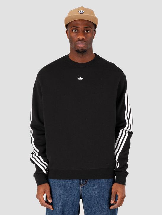 adidas 3Stripe Wrap Crewneck Black White FM1522