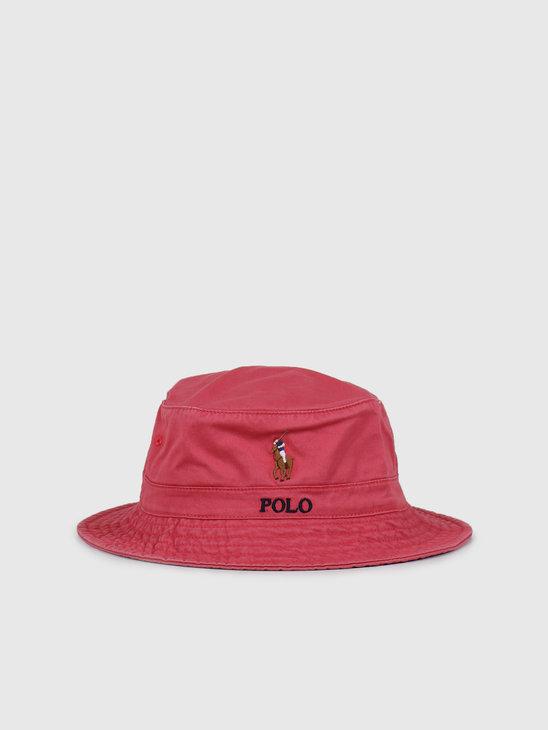 Polo Ralph Lauren Loft Bucket Cap Multi PP Nantucket Red 710787242002