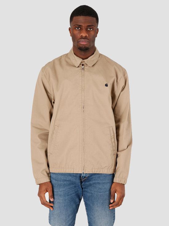 Carhartt WIP Madison Jacket Leather Dark Navy Rinsed I026487-8Y02
