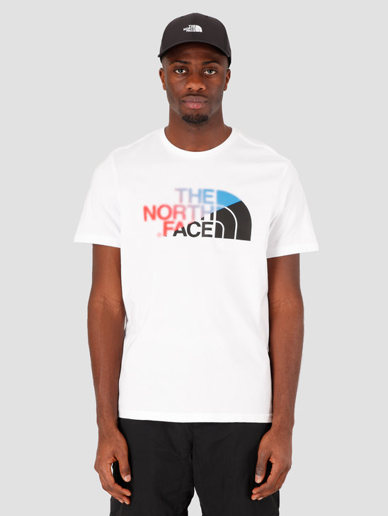 The North Face Ss Bd GLS TNF White Clear Lake Blue NF0A4M6OBBD1