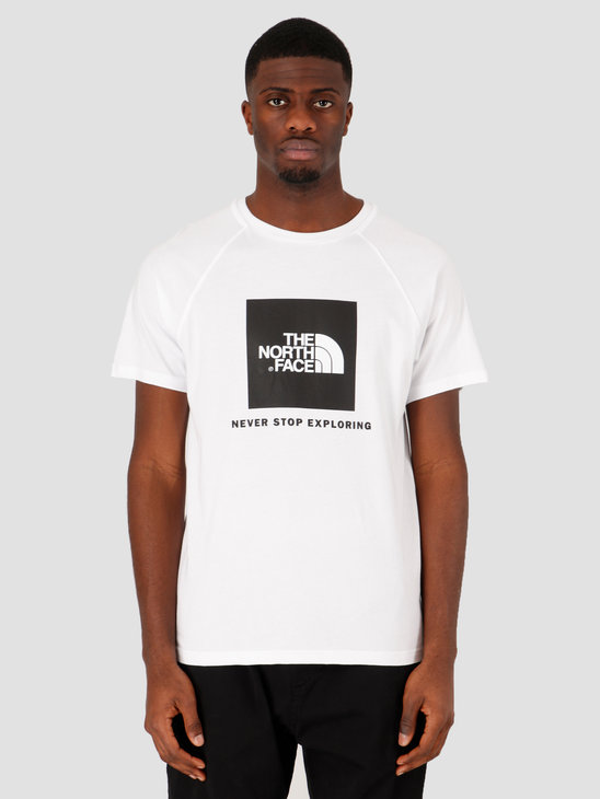 The North Face Short Sleeve Raglan Redbox Tee TNF White NF0A3BQOFN41