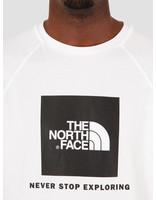 The North Face The North Face Short Sleeve Raglan Redbox Tee TNF White NF0A3BQOFN41