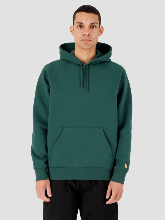 Carhartt WIP Hooded Chase Sweat Treehouse Gold I026384-08Z90
