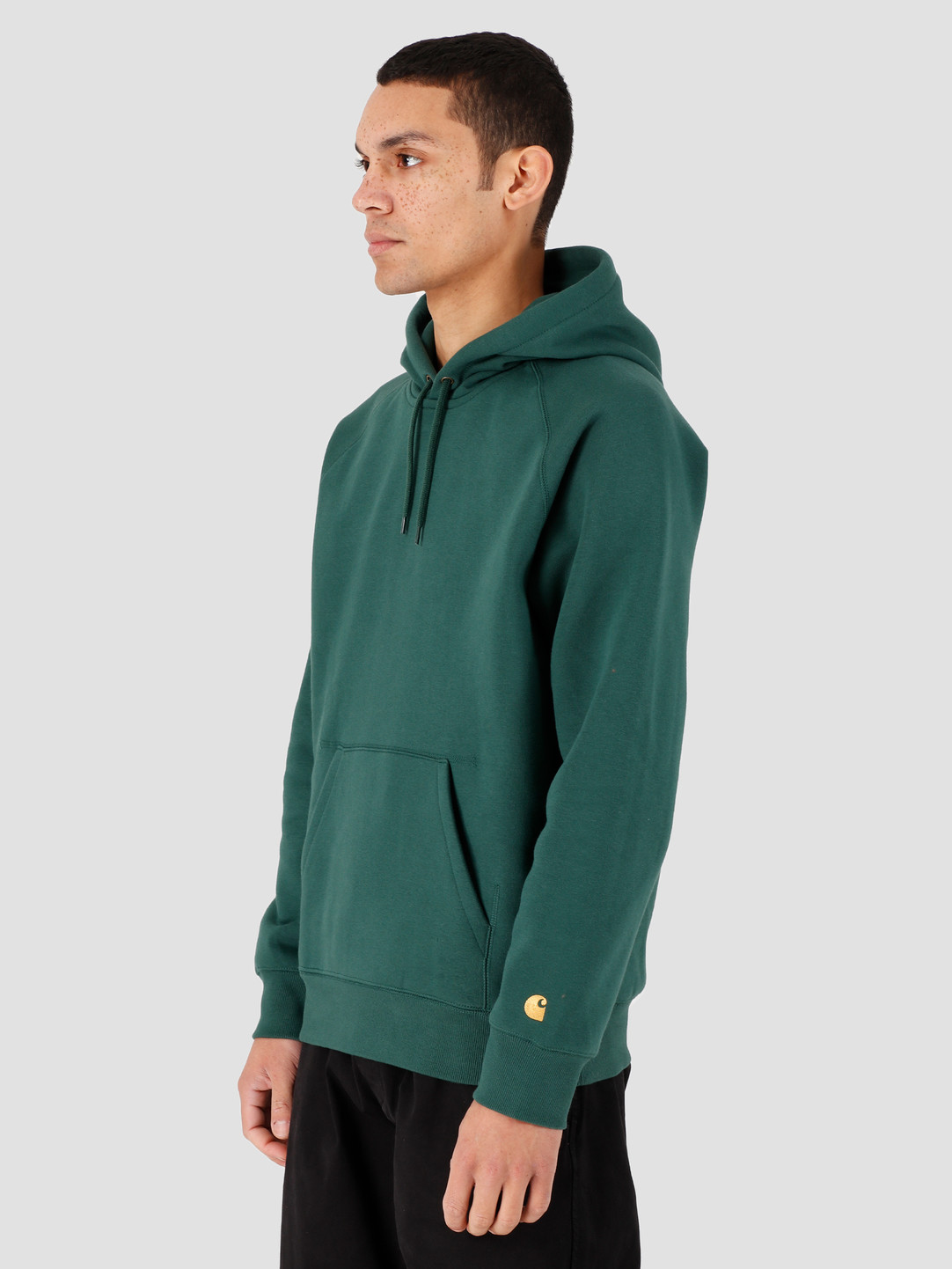 Carhartt WIP Carhartt WIP Hooded Chase Sweat Treehouse Gold I026384-08Z90