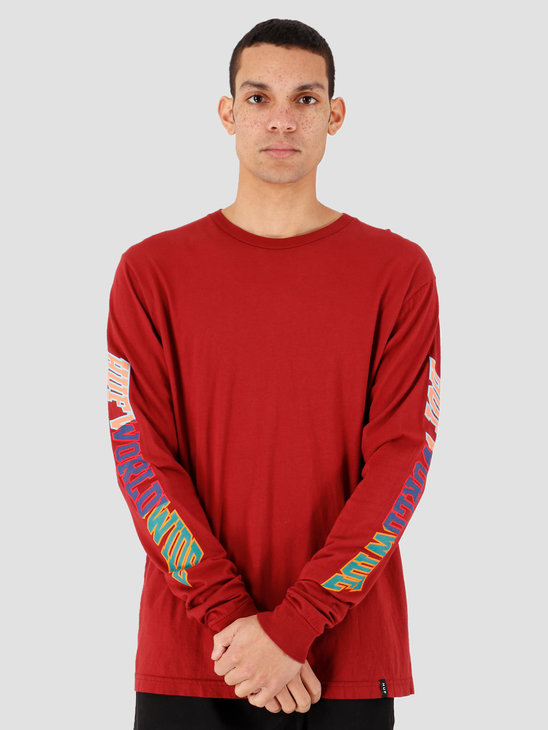 HUF Suspension Classic H Longsleeve Tee RED PEAR Ts00939Rpear