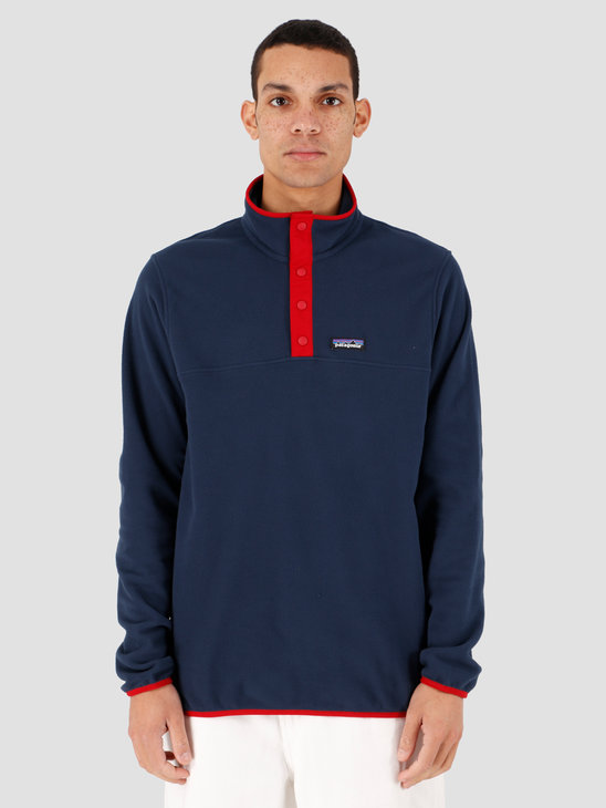 Patagonia M's Micro D Snap-T Pullover New Navy w/Classic Red 26165