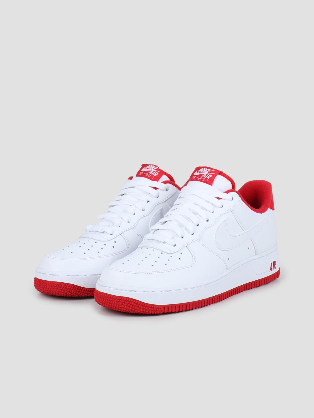 Nike Nike Air Force 1 '07 1 White University Red CD0884-101
