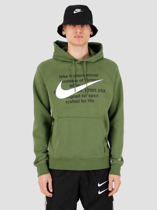 Nike NSW Swoosh Hoodie Po Bb Treeline White CJ4861-326