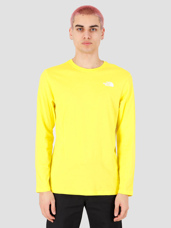 The North Face Longsleeve Red Box Tee TNF Lemon NF0A493LDW91
