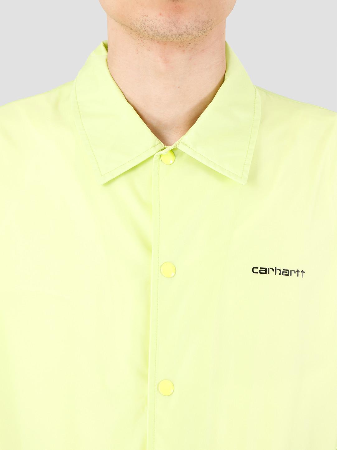 Carhartt WIP Carhartt WIP Carhartt Script Coach Jacket Lime Black I027784-09E00