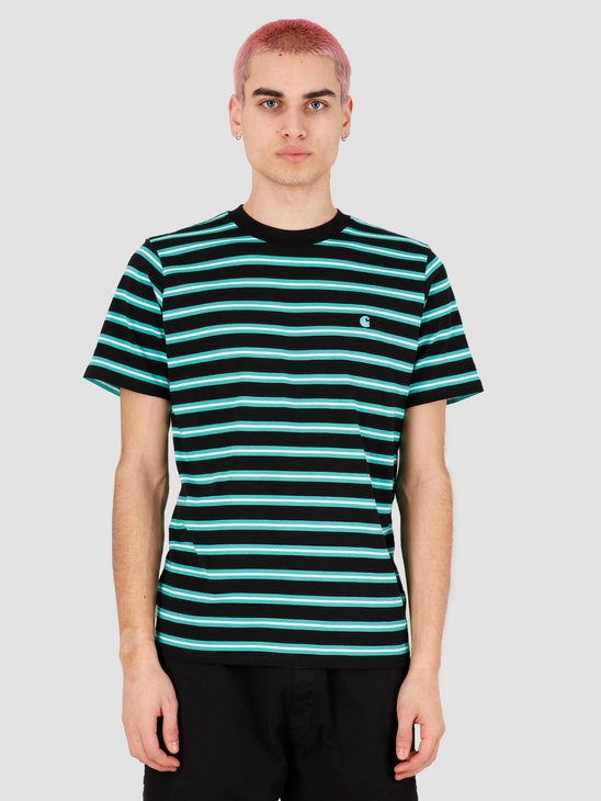 Carhartt WIP Oakland T-Shirt Oakland Stripe Black Yoda stripe I027731-89ST