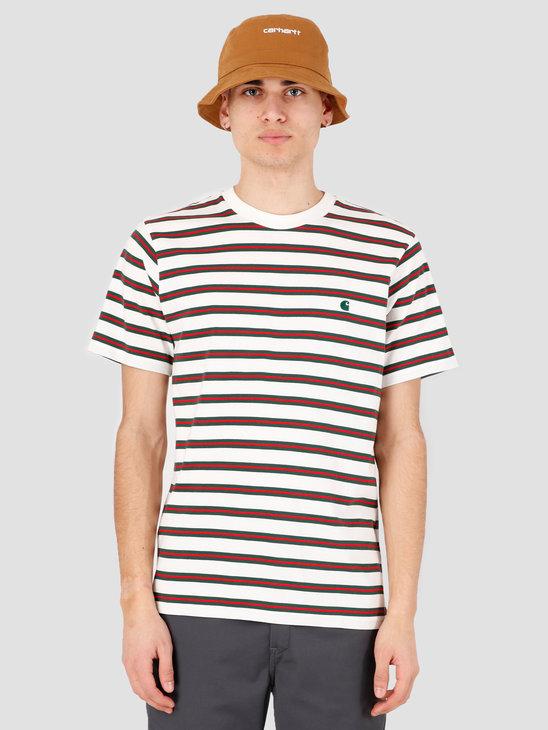 Carhartt WIP Oakland T-Shirt Oakland Stripe Wax Treehouse stripe I027731-D6ST
