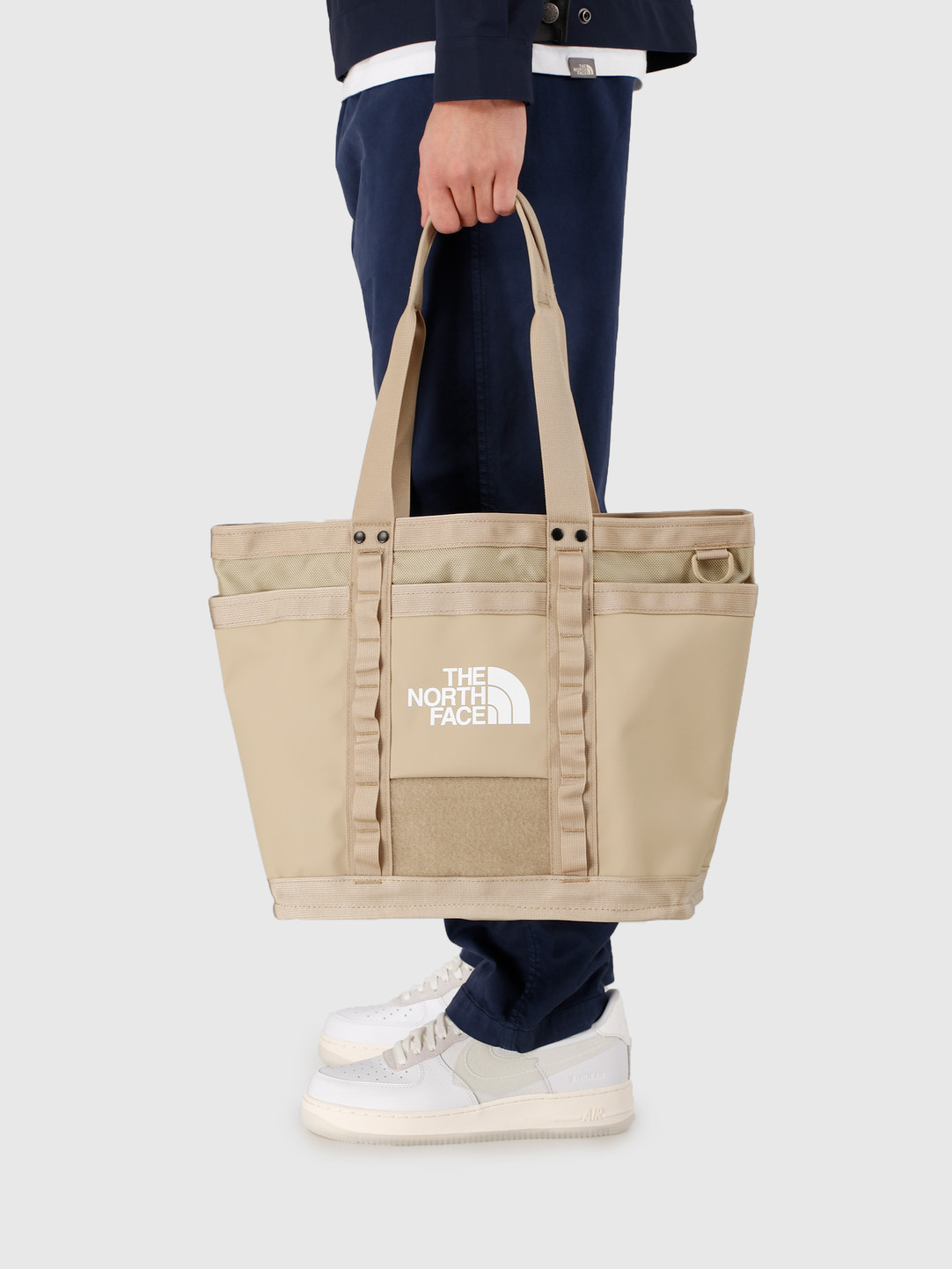 The North Face The North Face Explore Utility Tote Twill Beige TNF White NF0A3KZUEJ71