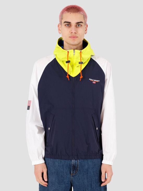 Polo Ralph Lauren OG V-Bucket Windbreaker Jacket Nwprt Nvy White Brght Pear 710788602001