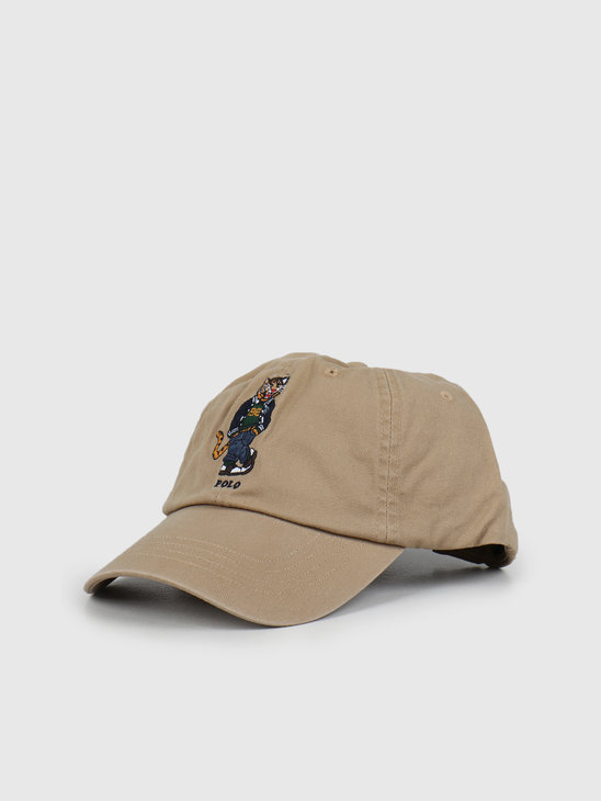 Polo Ralph Lauren Cotton Twill-Classic Sport Cap Luxury Tan 710790285001
