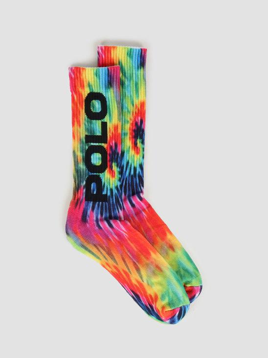 Polo Ralph Lauren Cotton-Tie Dye Crew Socks Multicolor 449799775001