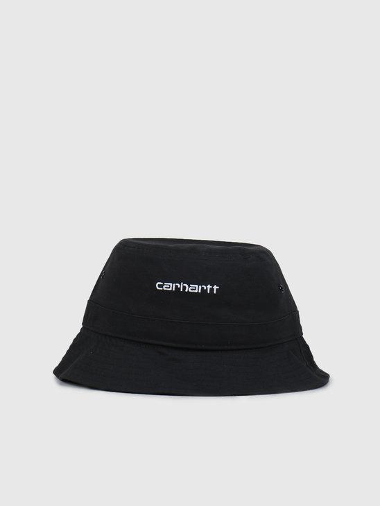 Carhartt WIP Script Bucket Hat Black White I026217-8990