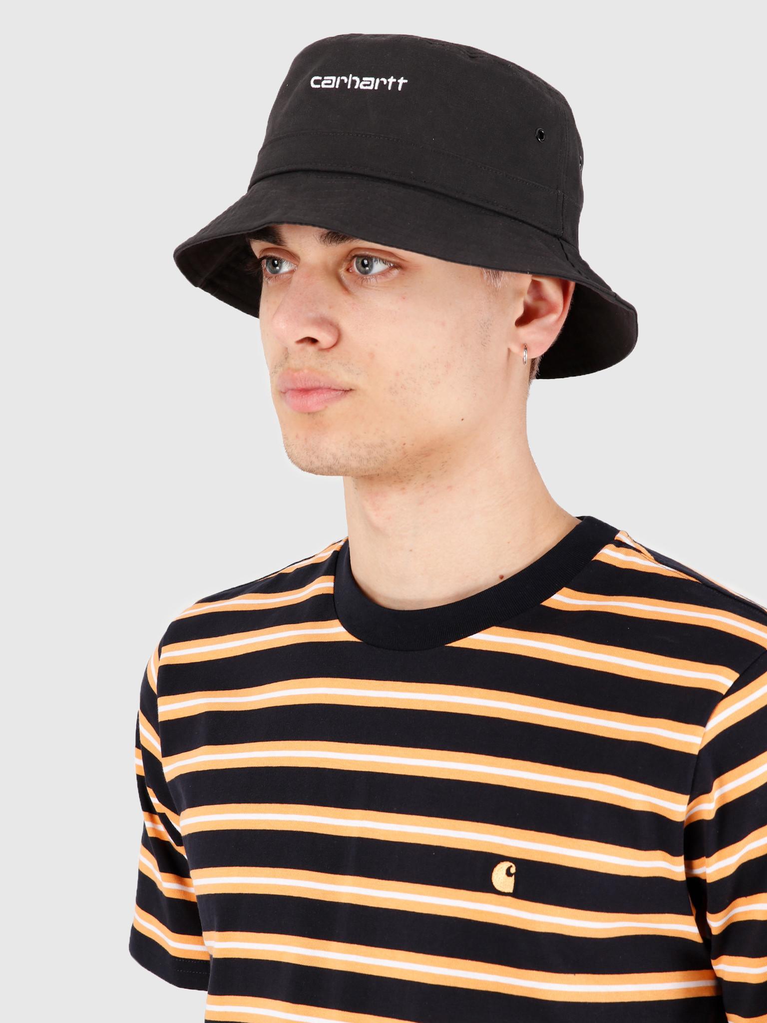 Carhartt WIP Carhartt WIP Script Bucket Hat Black White I026217-8990