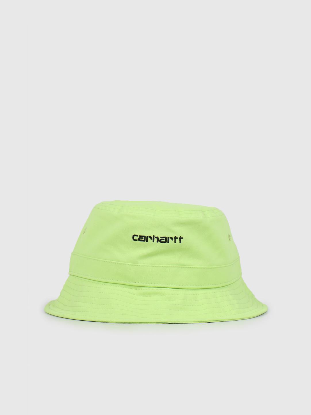 Carhartt WIP Carhartt WIP Script Bucket Hat Lime Black I026217-09E00
