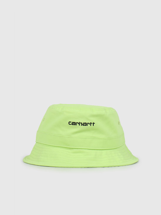 Carhartt WIP Script Bucket Hat Lime Black I026217-09E00
