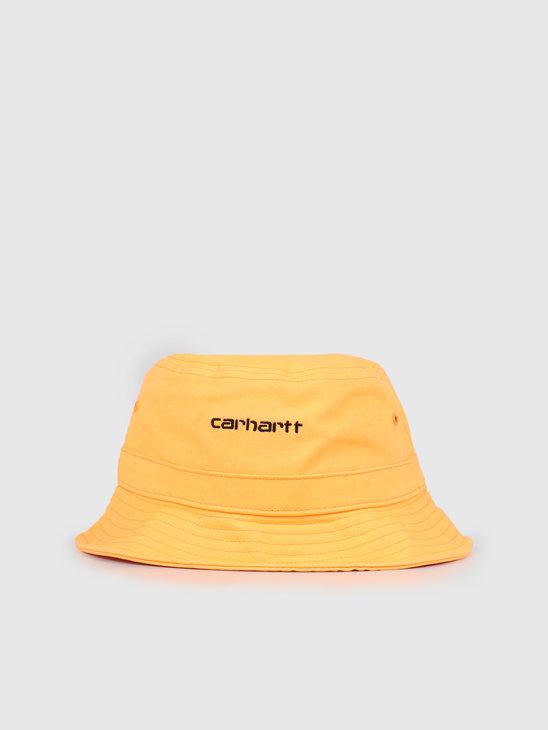 Carhartt WIP Script Bucket Hat Pop Orange Black I026217-09G00