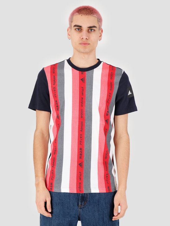 adidas Mhe T-Shirt Gfx 1 Ledgend Ink Scarle FI4033