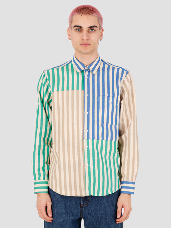 EU FC Bernardo Patchwork Shirt Multi Stripes