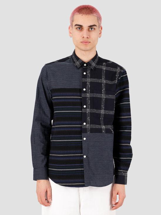 EU FC Orfeao Patchwork Shirt Navy Textures