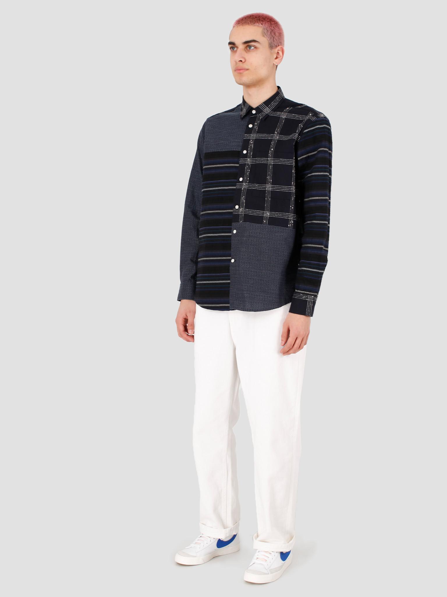 EU FC EU FC Orfeao Patchwork Shirt Navy Textures