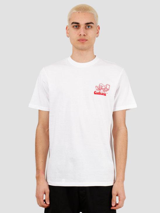 Carhartt WIP Bene T-Shirt White Red I027811-290