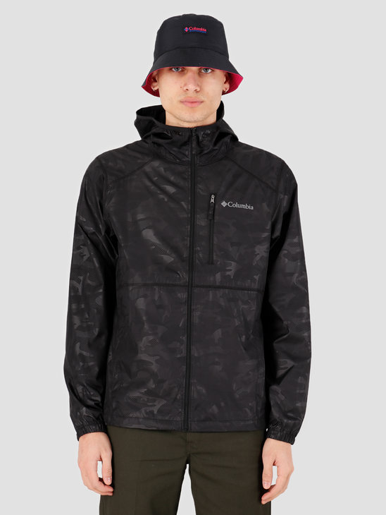 Columbia Flash Forward Windbreaker Print Black Technical 1606803009