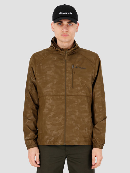 Columbia Flash Forward Windbreaker Print New Olive Techn 1606803327