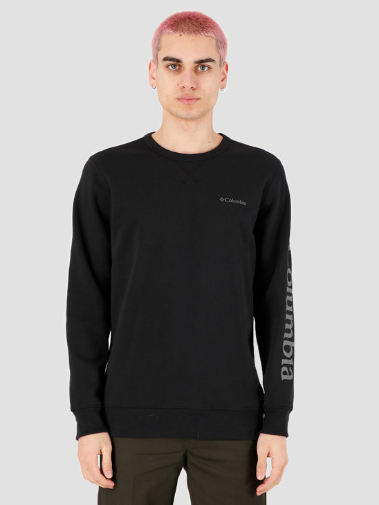 Columbia Columbia Logo Fleece Crewneck Black, City Gre 1884931010