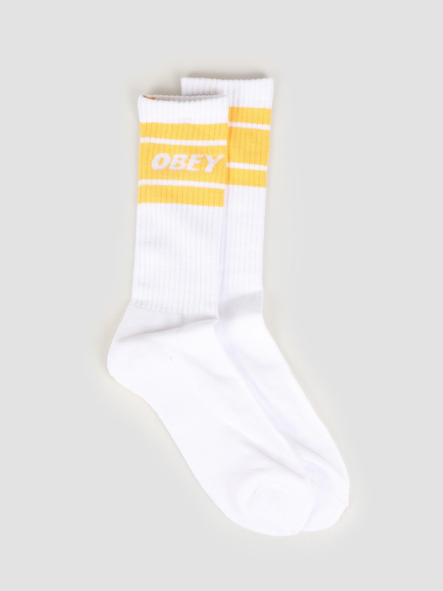 Obey Obey Cooper II Socks White / mellow yellow 100260093 WMY