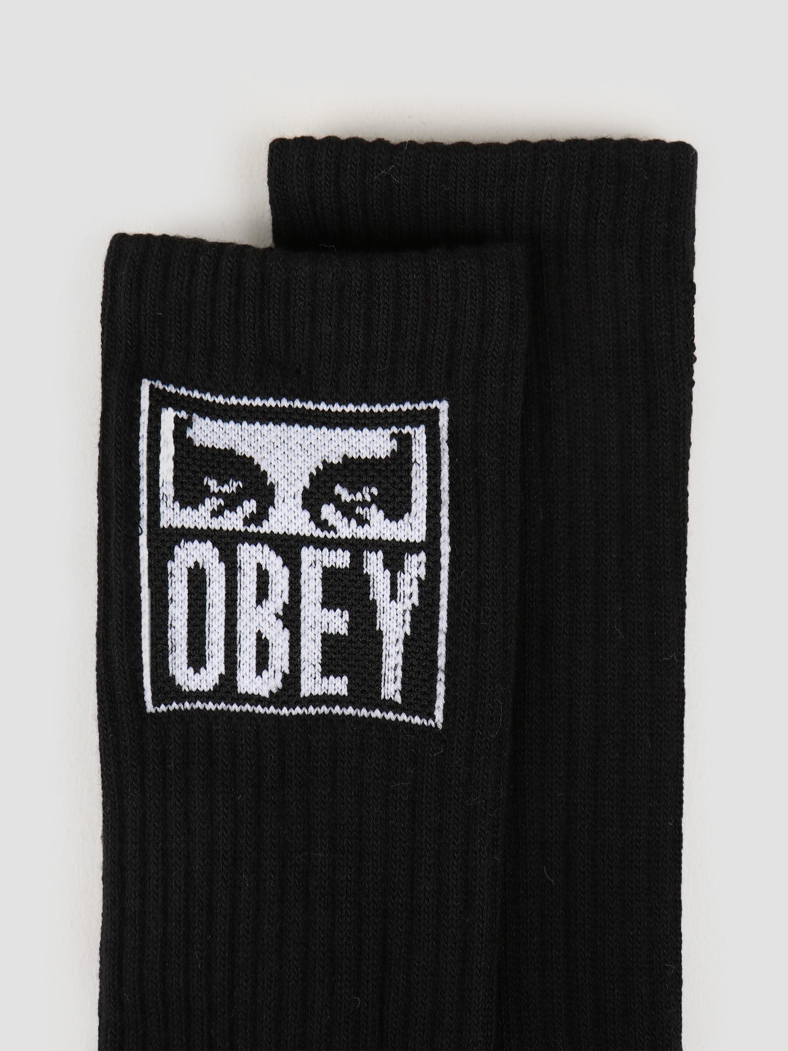 Obey Obey Obey eyes icon socks Black 100260141 BLK