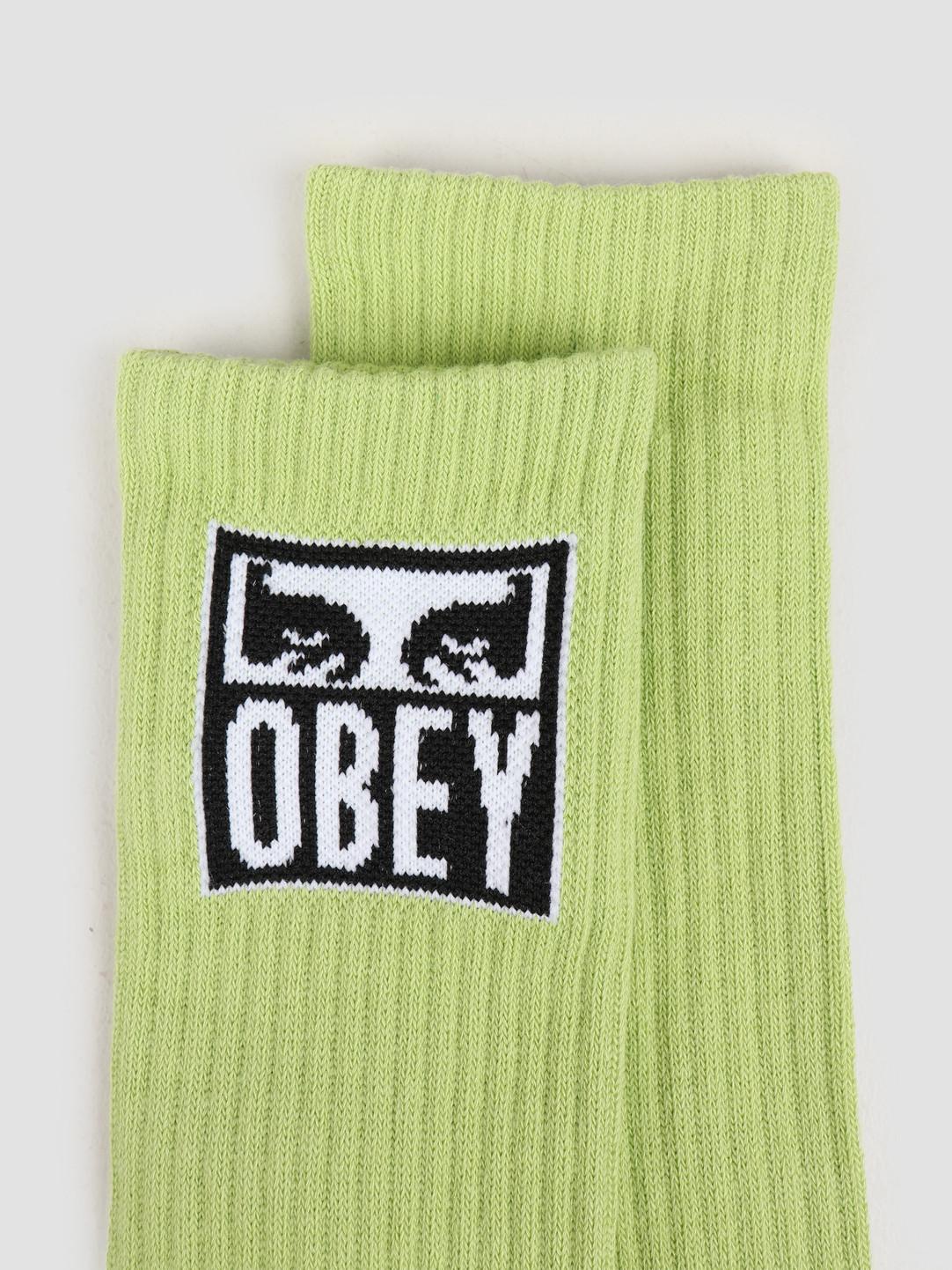 Obey Obey Obey eyes icon socks Key lime 100260141 KEY