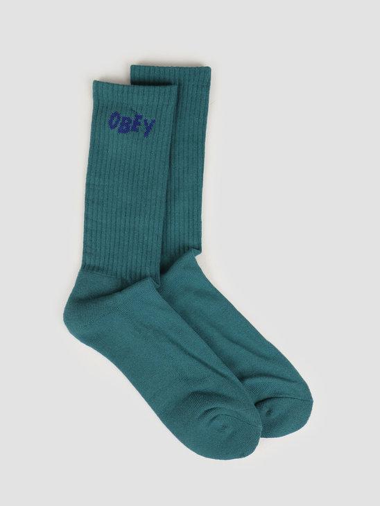 Obey OBEY Jumbled Socks Eucalyptus / blue 100260089 EUC